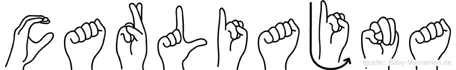 Carliajna in Fingersprache für Gehörlose