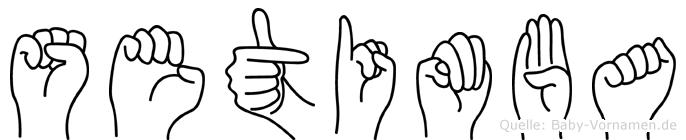 Setimba im Fingeralphabet der Deutschen Gebärdensprache