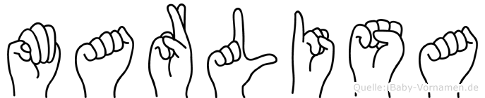 Marlisa im Fingeralphabet der Deutschen Gebärdensprache