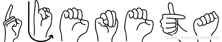 Djeneta in Fingersprache für Gehörlose
