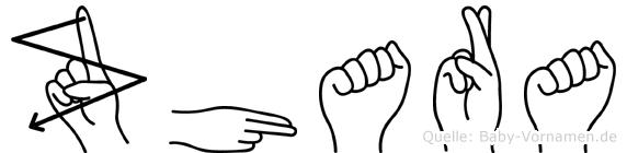 Zhara im Fingeralphabet der Deutschen Gebärdensprache