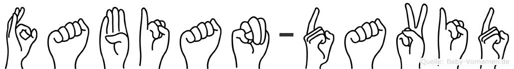 Fabian-David im Fingeralphabet der Deutschen Gebärdensprache