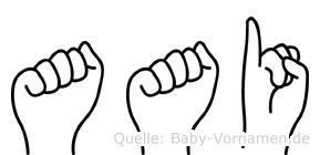 Aai im Fingeralphabet der Deutschen Gebärdensprache