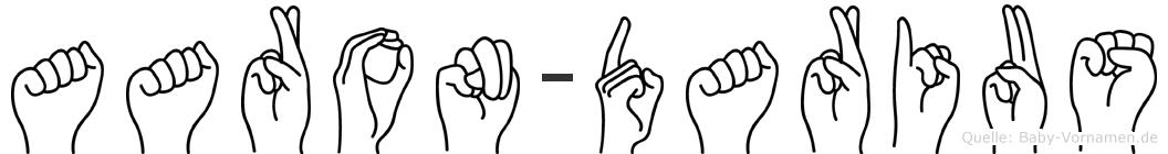 Aaron-Darius im Fingeralphabet der Deutschen Gebärdensprache