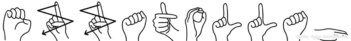 Ezzatollah in Fingersprache für Gehörlose