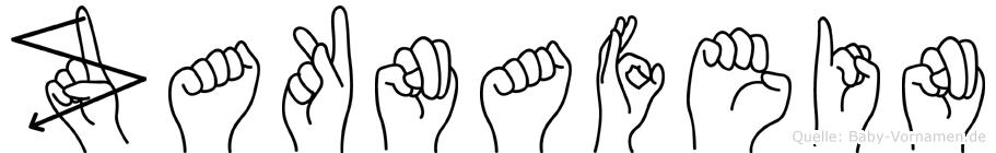 Zaknafein im Fingeralphabet der Deutschen Gebärdensprache