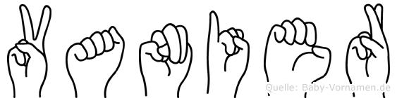 Vanier im Fingeralphabet der Deutschen Gebärdensprache