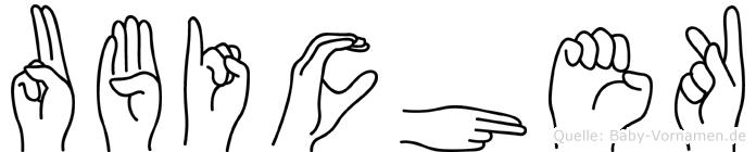 Ubichek in Fingersprache für Gehörlose