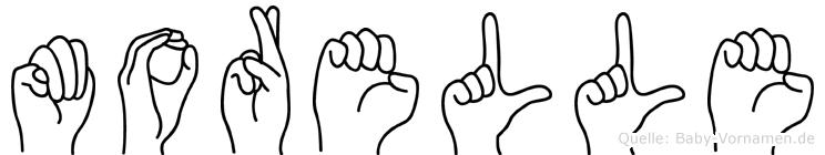 Morelle in Fingersprache für Gehörlose