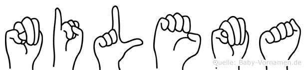 Nilema im Fingeralphabet der Deutschen Gebärdensprache