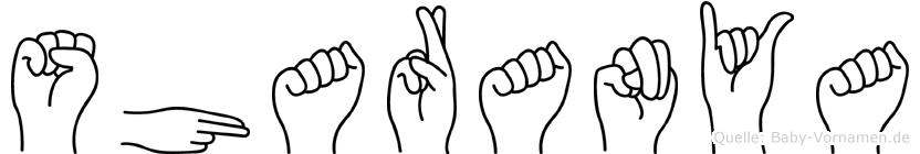 Sharanya im Fingeralphabet der Deutschen Gebärdensprache