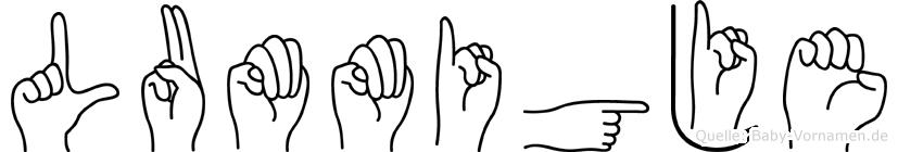 Lummigje in Fingersprache für Gehörlose