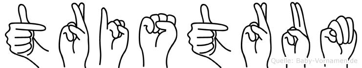 Tristrum in Fingersprache für Gehörlose