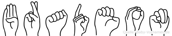 Bradeon in Fingersprache für Gehörlose