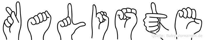 Kaliste in Fingersprache für Gehörlose