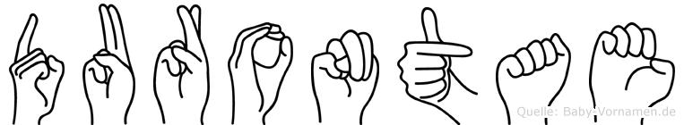 Durontae im Fingeralphabet der Deutschen Gebärdensprache
