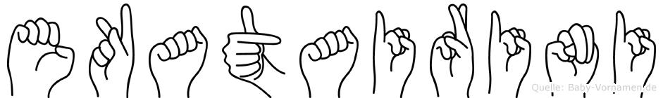 Ekatairini in Fingersprache für Gehörlose