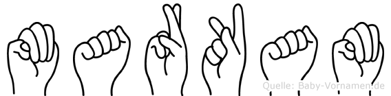 Markam in Fingersprache für Gehörlose
