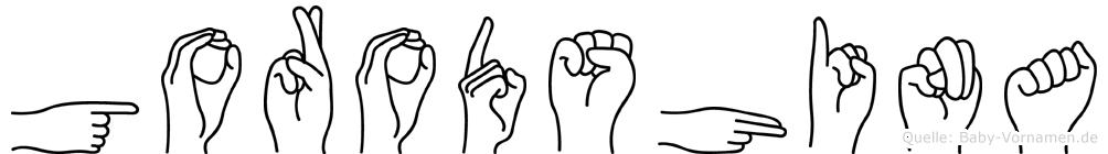 Gorodshina in Fingersprache für Gehörlose
