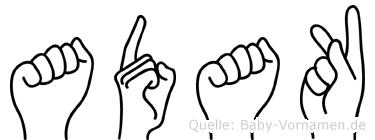 Adak in Fingersprache für Gehörlose