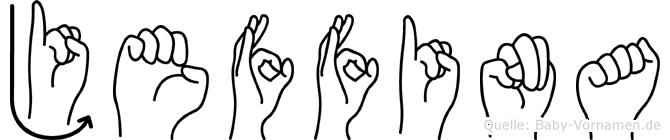 Jeffina im Fingeralphabet der Deutschen Gebärdensprache