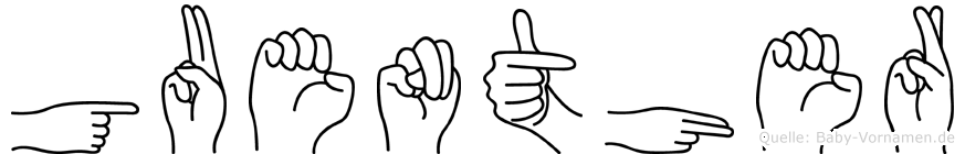 Guenther in Fingersprache für Gehörlose