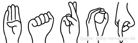 Barop im Fingeralphabet der Deutschen Gebärdensprache