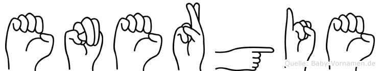 Energie im Fingeralphabet der Deutschen Gebärdensprache