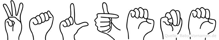 Waltene in Fingersprache für Gehörlose