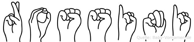 Rossini in Fingersprache für Gehörlose