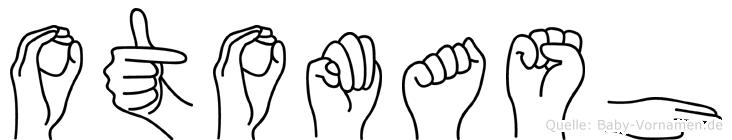 Otomash im Fingeralphabet der Deutschen Gebärdensprache