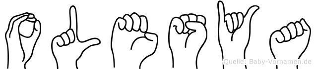 Olesya in Fingersprache für Gehörlose