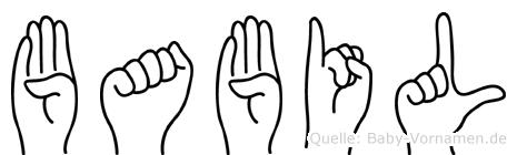 Babil in Fingersprache für Gehörlose