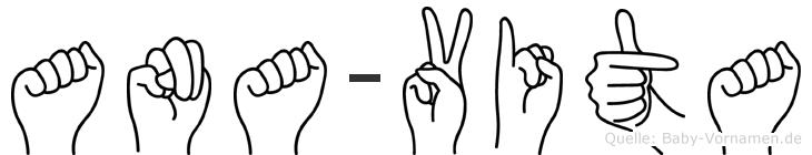 Ana-Vita im Fingeralphabet der Deutschen Gebärdensprache