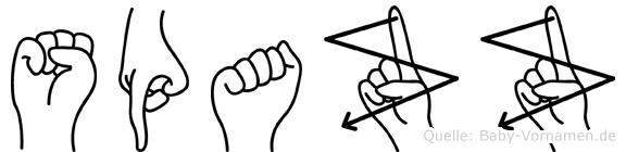 Spazz in Fingersprache für Gehörlose