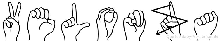 Velonza in Fingersprache für Gehörlose
