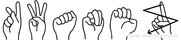 Kwanez in Fingersprache für Gehörlose