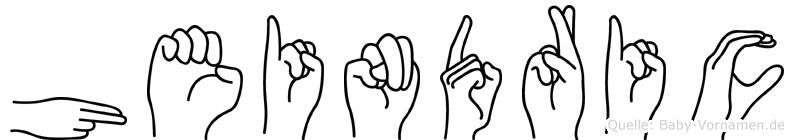 Heindric in Fingersprache für Gehörlose