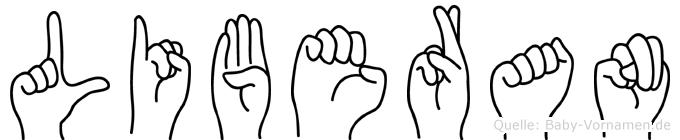 Liberan in Fingersprache für Gehörlose