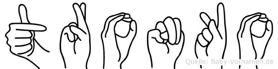 Tronko in Fingersprache für Gehörlose