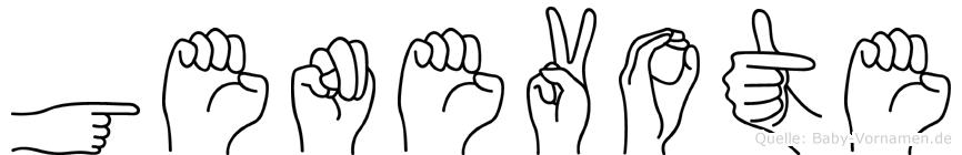 Genevote in Fingersprache für Gehörlose