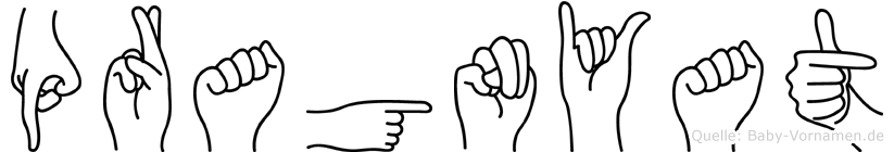 Pragnyat in Fingersprache für Gehörlose