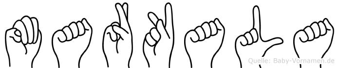 Markala in Fingersprache für Gehörlose
