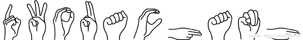 Dwouachanh im Fingeralphabet der Deutschen Gebärdensprache