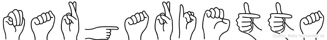 Margarietta in Fingersprache für Gehörlose