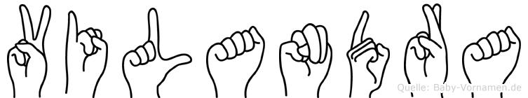 Vilandra in Fingersprache für Gehörlose