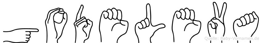 Godeleva im Fingeralphabet der Deutschen Gebärdensprache