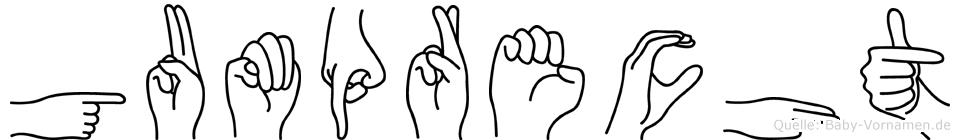 Gumprecht in Fingersprache für Gehörlose