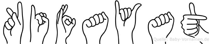 Kifayat im Fingeralphabet der Deutschen Gebärdensprache