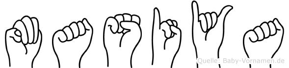 Masiya in Fingersprache für Gehörlose